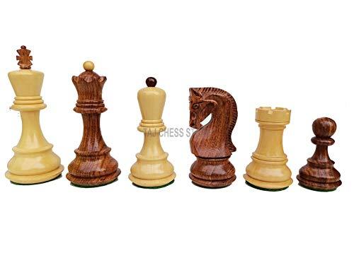 Desconocido Generic Juego de Piezas de ajedrez Ruso Zagreb de 3,7 'Solamente | Juego de ajedrez único de Lujo en Palo de Rosa Dorado Ajedrez Moscú | Tienda de ajedrez Taj
