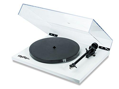 Flexson VinylPlay - Tocadiscos conversor de analógico a digital con tapa, blanco