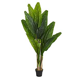 Nearly Natural 6' Triple Stalk Banana Tree Artificial Plant Green