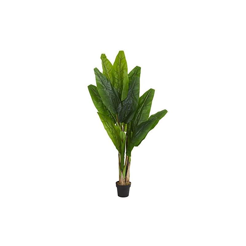 silk flower arrangements nearly natural 6' triple stalk banana tree artificial plant green