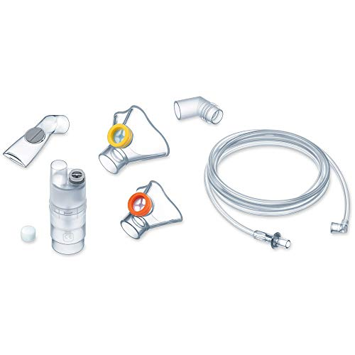 Beurer 601.19 - Pack de Accesorios para Inhalador IH-26 Kids/IH-26, Nebulizador, Tubo Boca, Mascarilla Silicona Bebe, Mascarilla Silicona Niño, Tubo Flexible, 10 Filtros