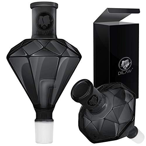 DILAW® Shisha Diamant Molassefänger Totenkopf (aus Glas für (Schliff 18/8) - Wasserpfeife, Vorkühler-Aufsatz Skull Wasserpfeife, Black