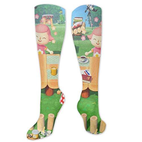 FJXXM Unisex Socks,Animal-Crossing-New-Horizons Calcetines Hasta La Rodilla, Calcetines Ligeros Informales Hasta La Rodilla Para Caminatas En El Gimnasio 50cm