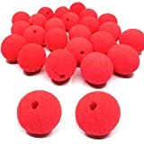 dancepandas Espuma Clown Nose, 25 Piezas Red Nariz de Payaso Divertido Halloween Costume Party