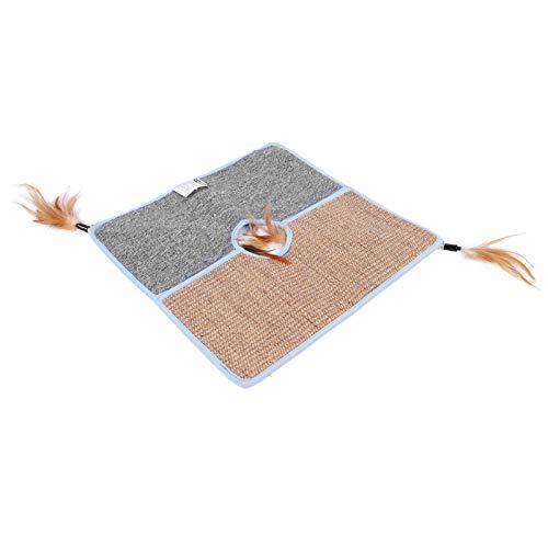 SALUTUYA Cat Scratcher Natürliches Sisal-Teppich-Tuch für Katzen, die 45x45CM...