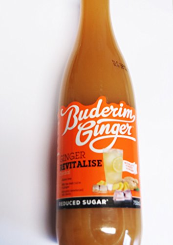 Buderim Ginger Revitalise - Ingwer Sirup mit STEVIA (Inhalt 750ml) -