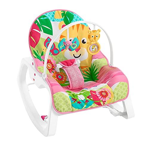 Cadeirinha Tigre Rosa, Fisher Price, Mattel
