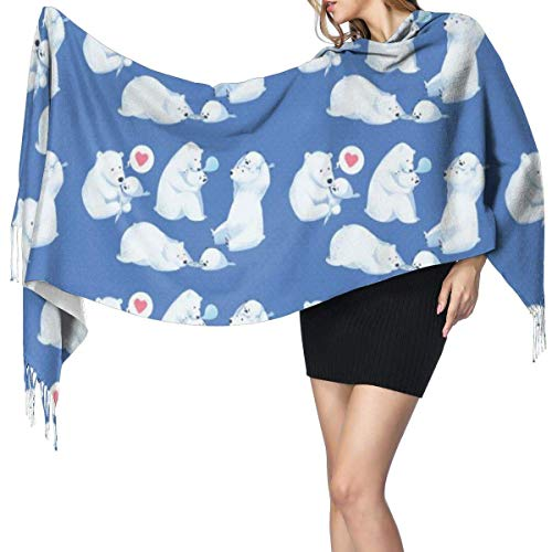 Alimentar bebé oso polar bufanda de mujer moda chales largos abrigos invierno cálido bufandas regalos regalo de Navidad para madre novi