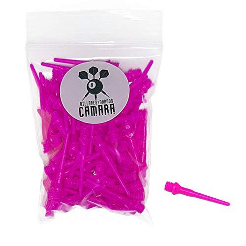 BILLARES Y DARDOS CAMARA Borsa con 100 Punte di Freccette in plastica Bersaglio elettronico (Rosa)