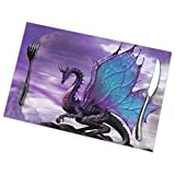 heefan Purple Dragon Print Placemats - Dining Table Place Mats Set of 6 Easy to Clean Durable Non-Slip Kitchen Table Mats Heat-Resistant Coffee Mats(18' X 12')