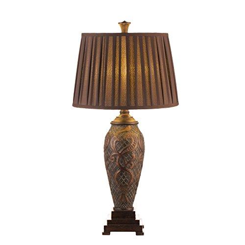 Rétro lampe de table chambre salon bureau gravure nostalgie hôtel villa décoration luxe antique tissu lampe de table