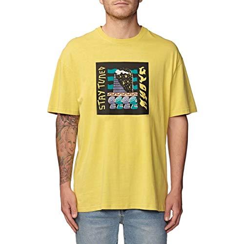 Globe Totem Tee T-Shirt pour Homme M sulphure délavé