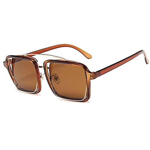 ZZOW Gafas De Sol Cuadradas Clásicas con Puentes Dobles Únicos para Mujer, Lentes Transparentes con Degradado, Monturas De Anteojos Ópticos, Sombras Uv400