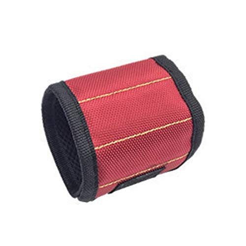 AGNN Wrist Tragbarer Werkzeugkoffer Elektriker Handwerkzeuggürtel Schrauben Nägel Bohrer-Halter-Reparatur-Werkzeuge Toolkit (Color : Red)