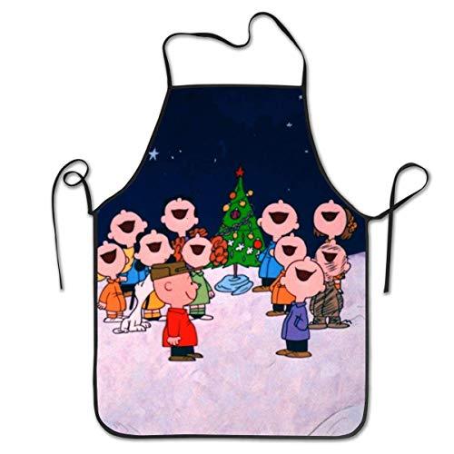 GERERIC Nochebuena De Charlie Brown Delantales De Cocina Ajustable Chefs Delantal Creativa Delantales De Jardinería Artesanía Hornear Delantal De Pintura para Mujeres Hombres,Regalo,52X72Cm
