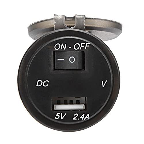 Shipenophy Adaptador de Interruptor Independiente Duradero de 12V 23.6in para Piezas de automóvil para modificación de vehículos(Blue, DC12~24V)