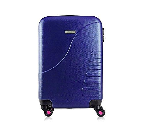 161025 Trolley rígida Pierre Cardin Equipaje de Mano con 4 Ruedas 38x22x55 cm (Azul)