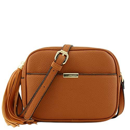 Square Tassel Crossbody Bag Tan