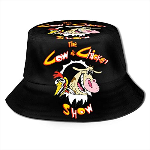Fashion Summer Outdoor Sun Hat Bucket Cap Cow and Chicken Fisherman Hat for Men and Women