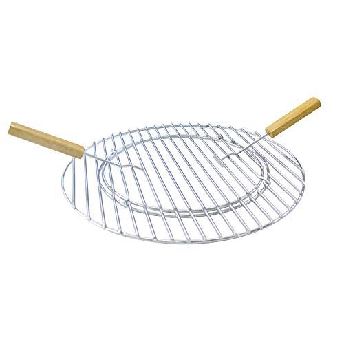 Hero Grille de Barbecue en Acier Inoxydable avec Trou et Couvercle 44,5 cm avec Poignées pour Barbecue sphérique DE 45 à 47 cm
