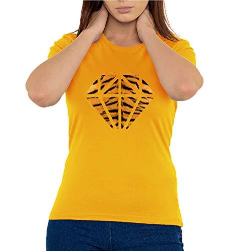 Atprints Fashion Tiger Diamond Vogue Art - Camiseta...