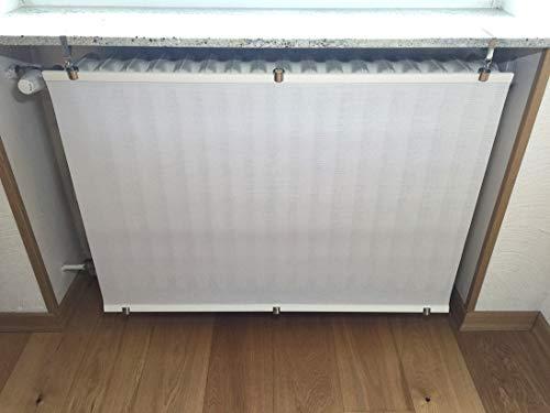Originelle und einzigartige Heizkörperverkleidung Weiß für Heizkörper unter Fensterbänken (Nische) oder Ablagen. Bereits ZUSAMMENGEBAUT.