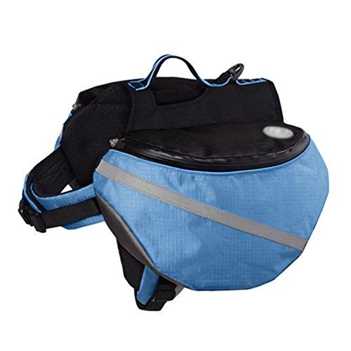YiJee Cani Zaino Sacchetto Sella Stoffa Campeggio Regolabile Traspirante per Escursionismo Blu XL