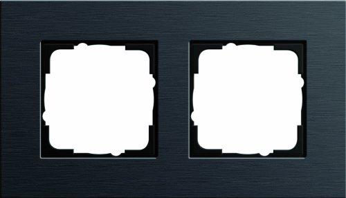 Gira 0212126 Abdeckrahmen 2-fach Esprit Aluminium, schwarz