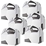 ArtCreativity Soccer Treat Boxes for Candy, Cookies and Sports Themed Party Favors - Pack of 12 Cookie Boxes, Cute Team Favor Cardboard Boxes with Handles for Birthday Party Favors, Holiday Goodies