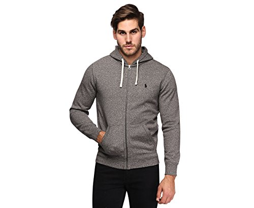 Polo Ralph Lauren Classic Full-Zip Fleece Hooded Sweatshirt (X-Large, Alaskan Heather)