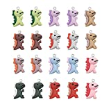 WAYEES Dinosaur Charms for Jewelry Making Earing Bracelet Crafting for Girl (Pack of 20)