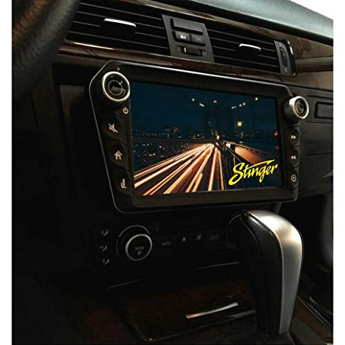"""Stinger ELEV8 8"""" Multimedia Car Stereo with 1024 x 600 HD Display. Apple Car Play, Android Auto, SiriusXM Ready, Bluetooth, TOSLINK Audio Output & HDMI Rear Input, Single/Double DIN Mounting"""