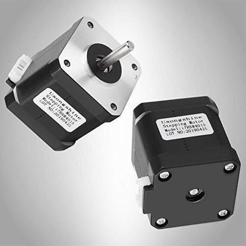 Kafuty Motor Paso a Paso 17HS8401S DC 3V con Cable de Motor AC600V/1MA/IS, Accesorios de Impresora 3D, con Ruido Estable y bajo Ruido.