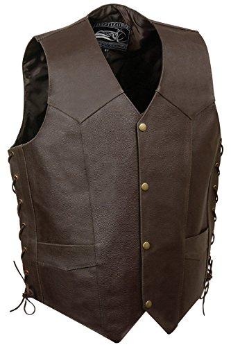 Event Leather Men's Eagle/Flag Vest (Brown, XX-Large)
