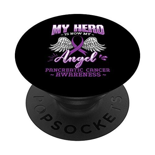My Hero Is Now My Angel Cáncer de páncreas PopSockets PopGrip: Agarre intercambiable para Teléfonos y Tabletas