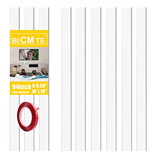 Canaletas para cables 2.4m| Canaleta Cables Adhesiva Blanco| Usado para ocultar cables pared TV para Home Office