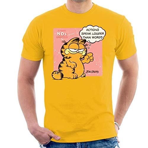 Garfield Acties spreken luider dan woorden citeren mannen T-Shirt