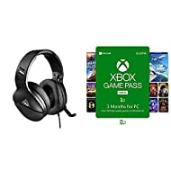 Turtle Beach Atlas One Gaming Headset - PC, PS4, Xbox One and Nintendo Switch, Black + Xbox Game Pas...