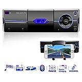 Autoradio mit Bluetooth, Single Din In-Dash Autoradio Audio-Receiver Unterstützt 18...