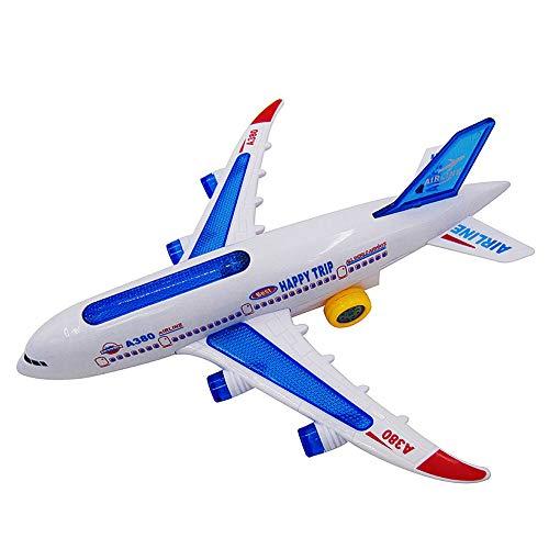 0Miaxudh Flugzeug Spielzeug, A380 Airbus Modell Elektrische Blinklichter Musikalische Klänge Flugzeug Montieren Spielzeug