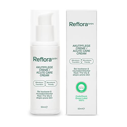 Reflora Skin Akutpflege Creme – beruhigt juckende, trockene und zu Neurodermitis & Ekzemen neigende Haut ∙ 98,99% natürliche Inhaltsstoffe ∙ Dermatologisch getestet ∙ Mikrobiom-freundlich ∙ 50ml