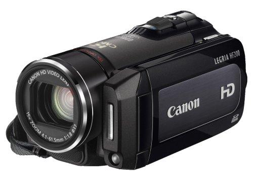 Canon LEGRIA HF200 HD-Camcorder (SDHC/SD-Card, 15-fach opt. Zoom, Bildstabilisator) schwarz