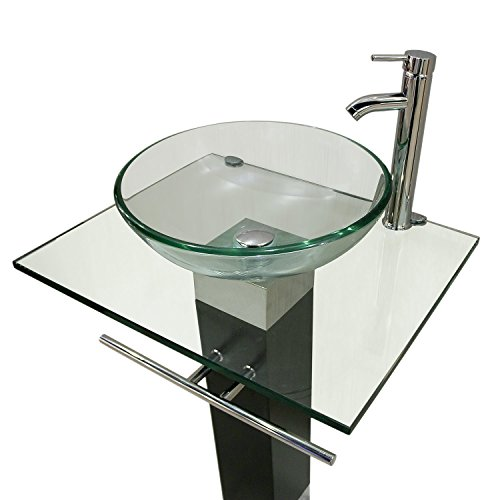 QIERAO Glass Vessel Bathroom Vanity Sink (Vaniy)