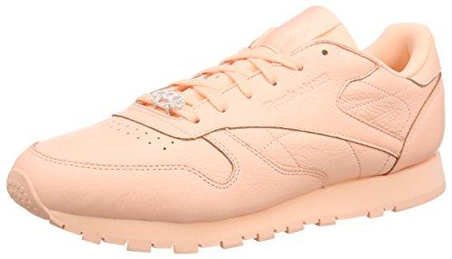 Reebok Reebok Classic Leather L, Damen Low-top, Rosa (Grit-peach Twist/sleek Met), 38.5 EU (5.5 UK)