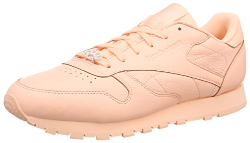 Reebok Classic Leather L, Damen Low-top, Rosa (Grit-peach Twist/sleek Met), 38 EU (5 UK)