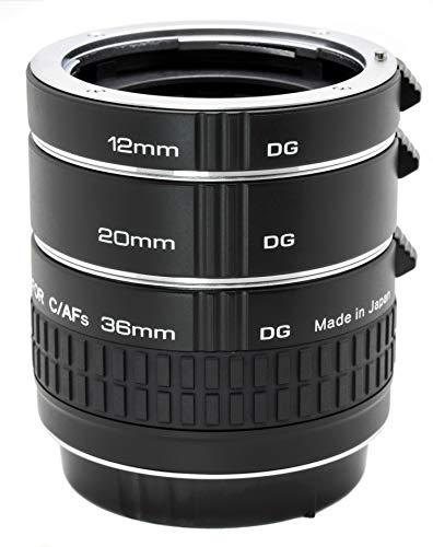 Kenko Extension Tube Set DG Nikon tra Ring Set, 36mm Nero
