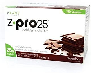 R-Kane Z-Pro 25 Protein Shakes: High Protein Chocolate Shake and Pudding Mix, Weight Loss Chocolate Protein Drinks, Natural Energy Booster Meal Replacement Shake, Low Calorie, Low Carb Protein Powder