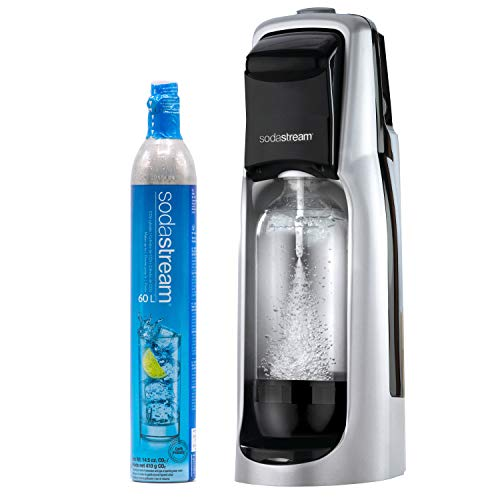 SodaStream Jet Sparkling Water Maker (Silver), with CO2 and BPA free Bottle