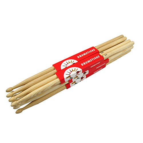 IKN 5A Palos de tambor con punta de madera de nogal americano, 6 pares