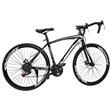 XINQITE 2021 New 26 Inch Adult Mountain Bikes Aluminum Frame 21 Speed Bicycle Full Suspension MTB, Bikes for Men and Women(Fast Delivery)